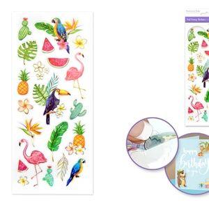 21 Foil Fancy Tropicana Stickers (1 sheet)